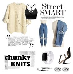 """""""Chunky KNITS"""" by lunafashionn ❤ liked on Polyvore featuring J.TOMSON, Valentino, Apple, Gucci and Cartier"""