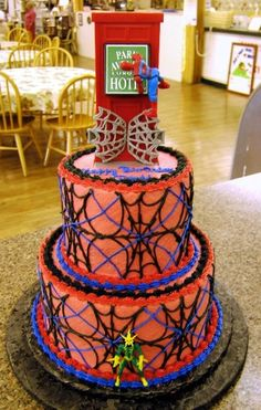 Gluten free spiderman cake jessica freemans half baked ideas spiderman party ideas are good for children and things to consider for the party include decorations food cake and also activities publicscrutiny Choice Image