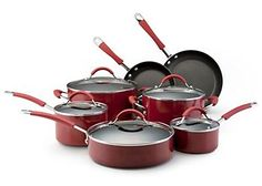 Cook with ease when using this 12-pc. cookware set! This aluminum cookware set includes a 1-qt. saucepan, 2-qt. saucepan, 3-qt. saucepan, 5-qt. dutch oven, 8'' open fry pan and a 10'' open fry pan. A cookware set with a non-stick surfaces