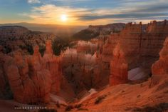 The hoodoos of Bryce Canyon National Park glow in the warm light of the sunset. Bryce Canyon, National Treasure, Antelope Canyon, Geology, Places To See, Utah, Mount Rushmore, National Parks, Glow