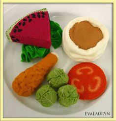 Wool Felt Play Food - Brussel Sprouts - Waldorf Inspired Pretend Kitchen Accessory for Imaginative Play. $18.00, via Etsy.
