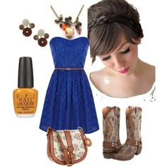 Pretty Cowgirl, created by kristinamarja on Polyvore