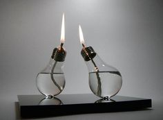 upcycle lightbulbs into candles