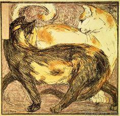 Franz Marc - Zwei Katzen
