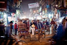 So many areas of Delhi have street markets and they seem to be 24 hour
