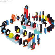 100 dominostenen pinguins van Janod #speelgoed