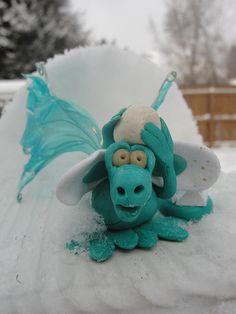 Turquoise snow dragon