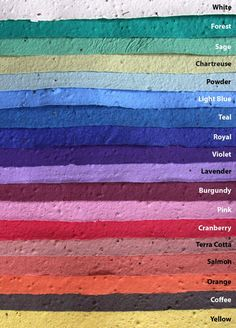 Choose from our 21 plantable seed paper colors! Great for DIY projects and crafts