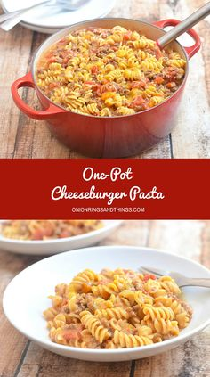 Meaty, saucy, cheesy and wildly delicious, this one-pot cheeseburger pasta is sure to be a family favorite. The best part is, it's so quick and easy to make and everything gets cooked in one pot!