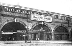 The remains of a ghost station have been discovered by engineers working on a billion rail project in south London Old London, East End London, South London, Bermondsey London, Bermondsey Street, Victorian London, Vintage London, London Pictures, London Photos