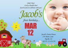 Barn Yard Theme Birthday Poster/ Barn Yard Bithday/Barn Yard Invitation