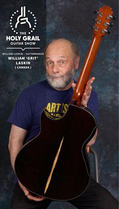 Exhibitor at The Holy Grail Guitar Show 2014: William 'Grit' Laskin, Canada http://www.williamlaskin.com http://holygrailguitarshow.com