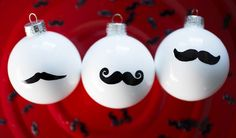 Mustaches are not just for hipsters anymore! Deck out the tree with Movember-inspired ornaments.