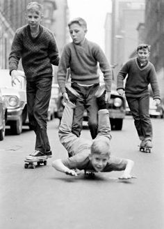 Vintage NYC boys at play