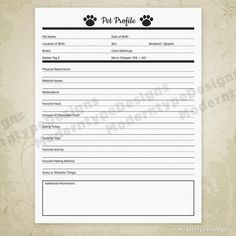 Pet Forms Kit for Pet Owners Printable Pet Documents Pet Dog Grooming Shop, Dog Grooming Salons, Dog Grooming Business, Poodle Grooming, Pet Sitting Business, Dog Walking Business, Perros Golden Retriever, Golden Retrievers, Animals