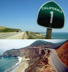 Pacific Coast Highway:   Route 1 in California. Miles and miles of jaw-dropping beauty that changes with each bend in the road.