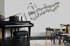 Music Notes Wall Mural Decal Sticker Home Decoration by DabbleDown. $24.99, via Etsy.