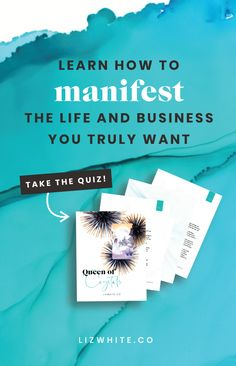 Learn how to manifest the life and business you truly desire. Discover your Money Manifestation Archetype today! Make Business, Business Advice, Business Entrepreneur, Creative Business, Online Business, Marketing And Advertising, Business Marketing, Online Marketing, Liz White