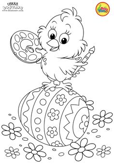 Easter coloring pages - Uskrs bojanke za djecu - Free printables, Easter bunny, eggs, chicks and more on BonTon TV - Coloring books Easter Coloring Pages Printable, Easter Bunny Colouring, Easter Egg Coloring Pages, Spring Coloring Pages, Coloring Pages For Boys, Coloring Books, Kids Coloring, Free Coloring, Adult Coloring