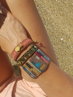 macrame bracelets, beaded bracelet, woven, knotted cuff, patcwork wide cuff, pineaple bracelet