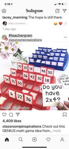 Guess Who Math Edition Teaching Activities, Classroom Activities, Teaching Math, Math Classroom, Kindergarten Math, Future Classroom, Fun Math, Math Games, Maths
