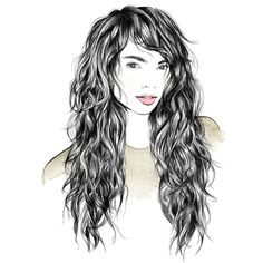 6 haircuts for curls: Trends and tips for every curl type - gewellter Haarschnitt Curly Hair With Bangs, Long Hair Cuts, Hairstyles With Bangs, Curly Hair Styles, Formal Hairstyles, Short Cuts, Long Layered Hair Wavy, Long Wavy Curls, Long Shag Hairstyles