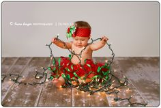 Baby's first Christmas photo shoot idea