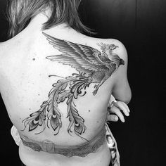 Phoenix tattoo is probably one of the most popular forms of tattoos, while having a lot of meaning. In this article I'll talk about the phoenix and about the many meanings of this. Phoenix is a sign of renewal, hope and a new beginning. A very famous tattoo linked to the phoenix is when the phoenix is