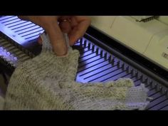V-Neck Crochet-Look Edging to Machine Knit by Diana Sullivan - YouTube