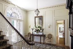Transom window helps complete the classy foyer!  The prestigious firm of Ferguson & Shamamian is among Architectural Digest's Top 100 which is no surprise to me when I view their work and ...