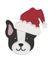 Santa Terrier Applique - 4 Sizes!   Christmas   Machine Embroidery Designs   SWAKembroidery.com Applique for Kids