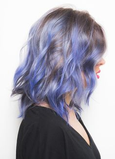 Thinking about going purple this Summer? Try this purple hair color with blue highlights. The bright hair hue has an ombre effect that you can easily get on blonde hair.