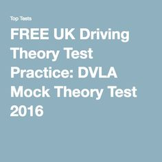 FREE UK Driving Theory Test Practice: DVLA Mock Theory Test 2016