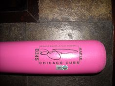Session Name: CHC AT WSH Session Date: May 12, 2013 Autographer:  Authenticator: AUTHENTICATORS, INC. Additional Information: GAME-USED PINK MOTHERS DAY BAT. USED BY CODY RANSON, DAVE SAPPELT MODEL.