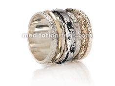 MeditationRings.com - MR258 (Gold & S.S Spinner Ring)
