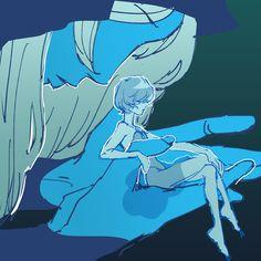 Mmueoul -- SU Blue Diamond and Blue Pearl Pearl Steven Universe, Greg Universe, Steven Universe Drawing, Pink Diamond Steven Universe, Universe Art, Blue Diamond Su, Diamond Art, Lapidot, Fanart