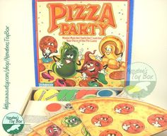 board games from the 1980's | 1980s Pizza Party Game: Complete Board Game via Etsy