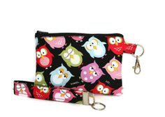 Life's a Hoot Owl Mini Purse and Key Fob Fits Cell by FrogBlossoms, $15.00