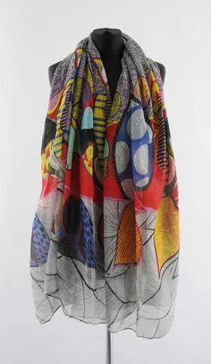 Šála - abstrakce Abstraktní barevná šála. 180 x 100 cm