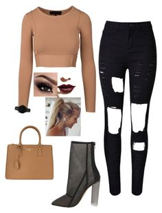 """""""Weekend"""" by rachael-dempsey-wilson ❤ liked on Polyvore featuring WithChic, Prada, LASplash and CLUSE"""