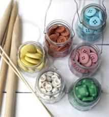 buttons in mason jars