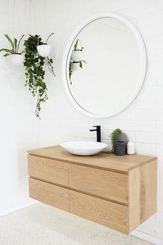 Shop our range of timber bathroom vanities. Visit our bathroom display centre today at 23 Kayleigh Drive, Buderim. Timber Bathroom Vanities, Timber Vanity, Wood Vanity, Bathroom Furniture, Modern Furniture, Bathroom Colors, Bathroom Sets, White Bathroom, Small Bathroom