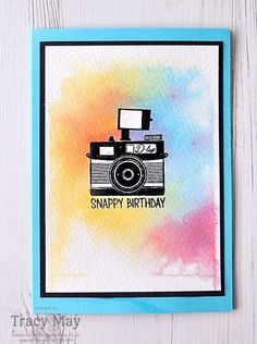 Snappy BIrthday card from Stampin' Up! Tracy May