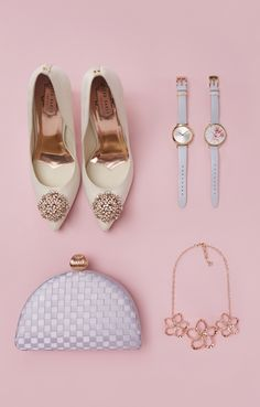 Perfect and polish your party attire in a pair of sparkly court heels and stylish accessories to match.