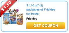 $1.10 off (2) packages of Friskies cat treats