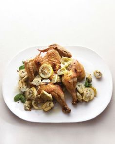 Roast Chicken with Artichokes Recipe