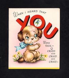 Unused Get Well Greeting Card  ~  (GA 39)