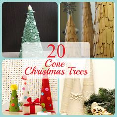 Cone Christmas Tree Ideas, cone crafts