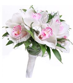Buy A wedding bouquet of white orchids according to .- Buy A wedding bouquet of white orchids at a price of 4 100 rubles with delivery in Moscow Wedding Bouquets, Wedding Flowers, White Orchids, Floral Wreath, Wreaths, Plants, Stuff To Buy, Magic, Moscow