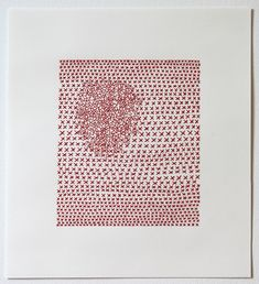 Untitled 17, thread and paper, 2012, Emily Barletta